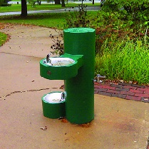 outdoor drinking fountain