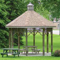 Engineered wood structures gazebo
