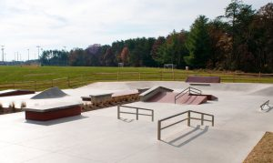 above ground skate park