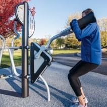 healthbeat squat machine outdoor fitness station