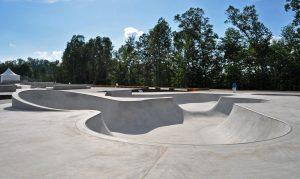 in-ground skate park