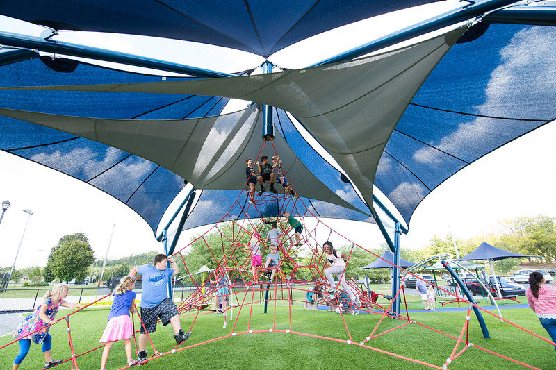 playground shade shelters with play equipment