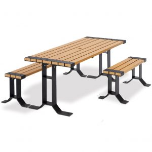 wooden table for park
