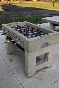 Outdoor table soccer concrete game