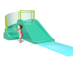 Aquatix splash pad slide and steps