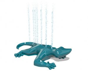 Splash pad lizard sprayer