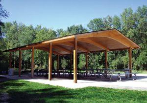 poligon wood structure