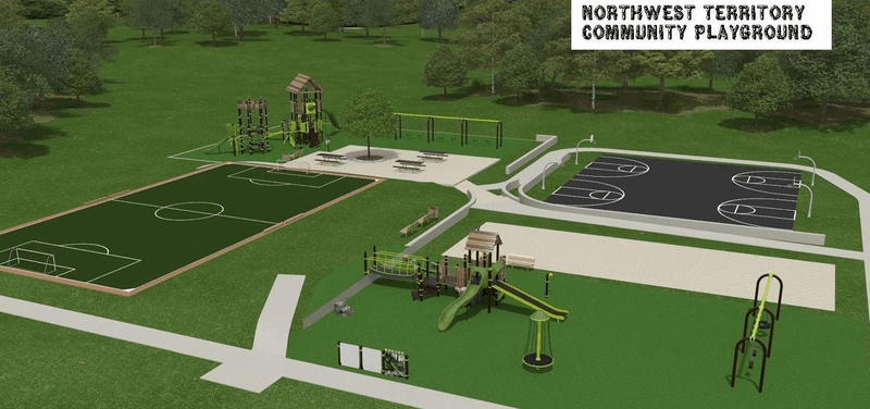 playground and sports court inclusive design